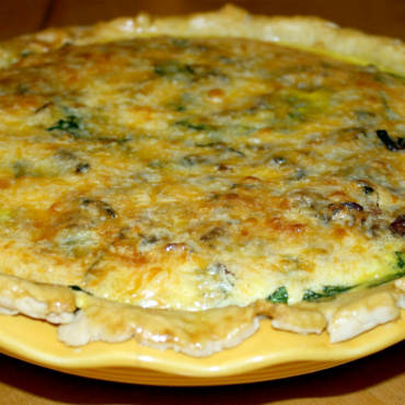 Bacon Cheddar Spinach Quiche