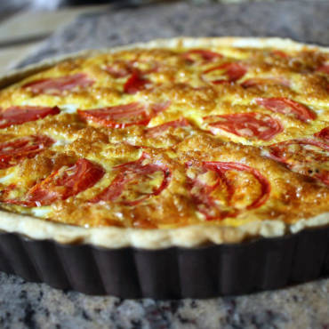 Oven Roasted Tomato Quiche