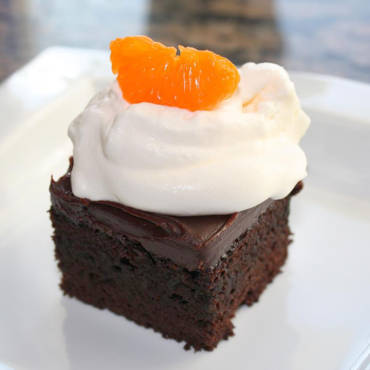 Chocolate Cake & Orange Ganache