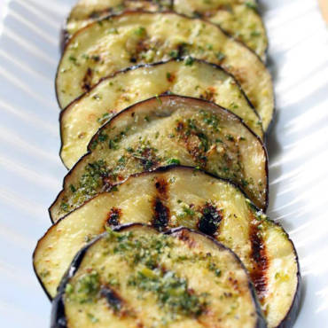 Marinated & Grilled Eggplant