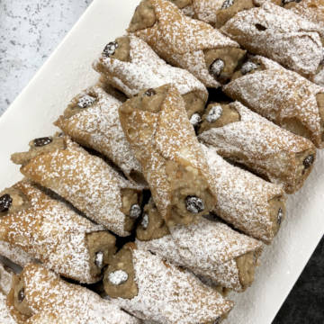 Espresso Infused Sicilian Cannoli